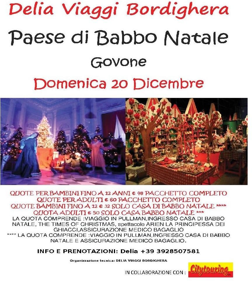 Domenica 20 Dicembre Paese di Babbo Natale Govone