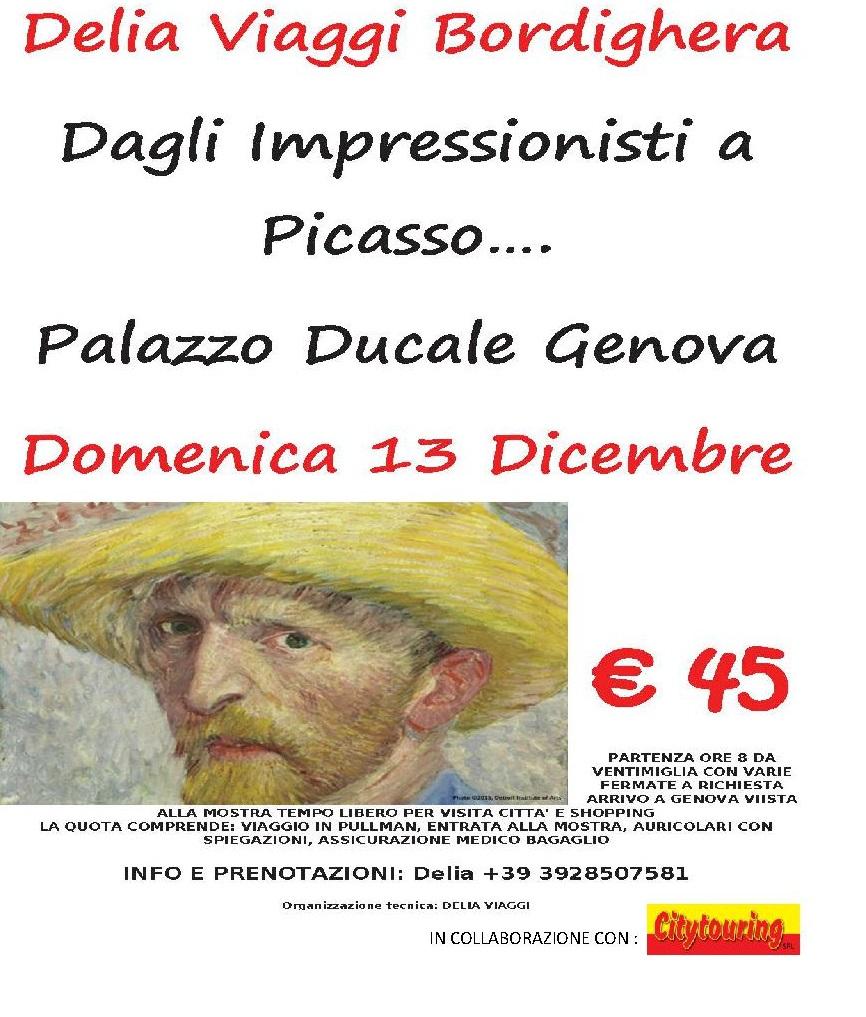 Domenica 13 Dicembre Mostra degli Impressionisti di Genova € 45