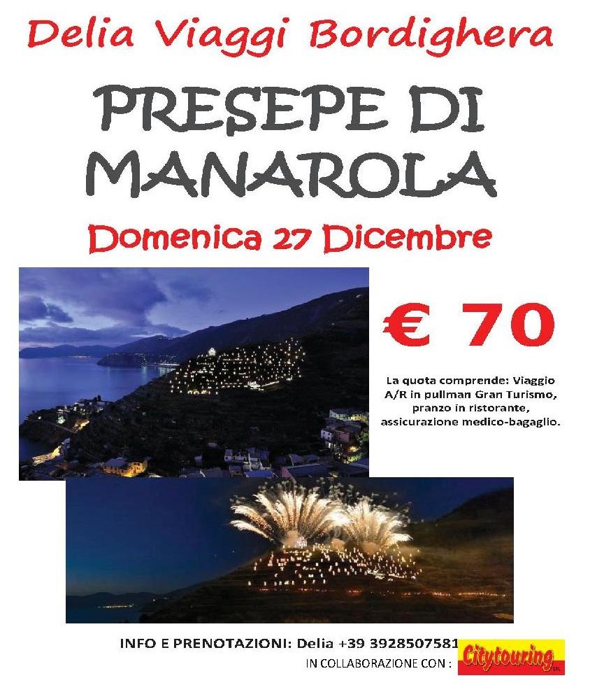 Domenica 27 Dicembre 2015 Presepe di Manarola € 70