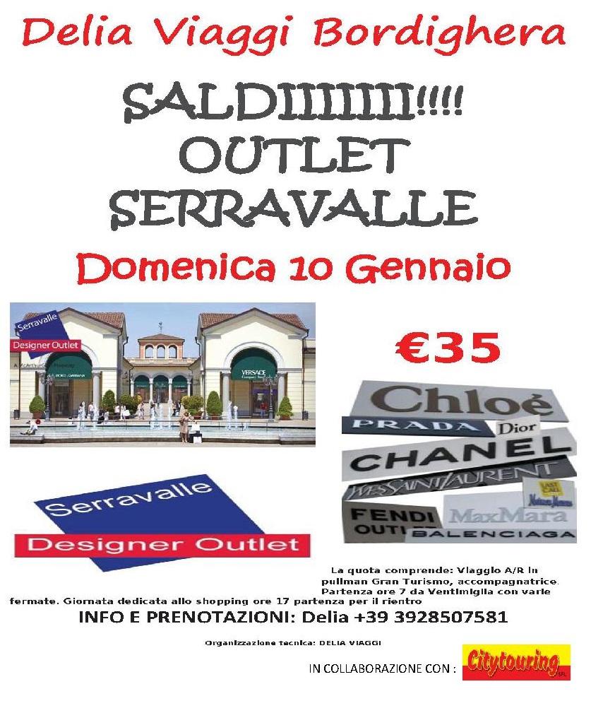 Domenica 10 Gennaio 2016 Outlet Serravalle Saldi!! € 35